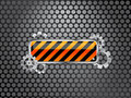 Industrial background with barrier sign and gears Royalty Free Stock Images