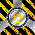 Industrial background design with bio hazard sign warning Royalty Free Stock Photo