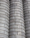 Industrial background of grain bins Royalty Free Stock Photo