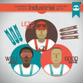 Industrial background with workman vector illustration eps contains transparencies Royalty Free Stock Photography