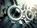 Industrial blue cogwheel gears background Royalty Free Stock Photo