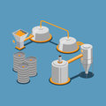 Industrial brewing isometric vector illustration