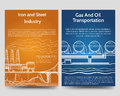 Industrial brochure flyers template