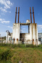 Industrial buildings decay Royalty Free Stock Photo