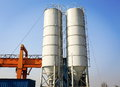 cement silo Royalty Free Stock Photo