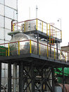 Industrial chemical tanks Stock Photography