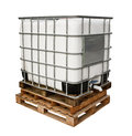 Industrial chemicals container for heavy industry isolated against a white background Royalty Free Stock Photography