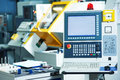Industrial cnc milling machine center Royalty Free Stock Photo