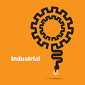Industrial concept.Creative industrial abstract vector logo desi Royalty Free Stock Photo