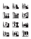 Industrial construction set vector illustration Royalty Free Stock Images
