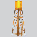 Industrial construction water tank vector illustration Stock Photography