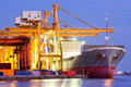 Industrial Container Cargo Ship Royalty Free Stock Photo