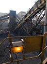 Industrial conveyor belts Stock Photos