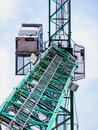 stock image of  Industrial crane from below against a blueish sky