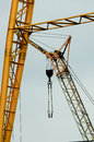 Industrial crane closeup Stock Images