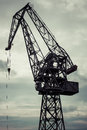 Industrial crane in gdansk shipyards view massive the poland Stock Image