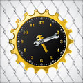 Industrial design clock Stock Image