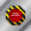 Industrial design with tire track and trailer air supply knob