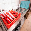 Industrial dishwasher Royalty Free Stock Photo