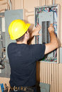 Industrial Electric Panel Repair Stock Images