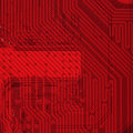 Industrial electronic red background Stock Image