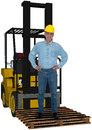Industrial Factory Worker, Forklift, Isolated Royalty Free Stock Photo