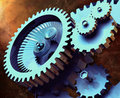 Industrial Gears Royalty Free Stock Image