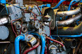 Industrial generator closeup big photo Royalty Free Stock Photos