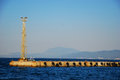 Industrial harbour on the sea Stock Photo