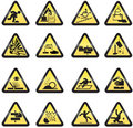 Industrial hazard signs Stock Photography