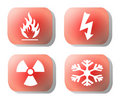 Industrial hazard symbols Stock Photos