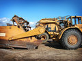 Industrial heavy equipment machinery  tractor Royalty Free Stock Photos
