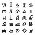 Industrial icons set of the industry a vector illustration Stock Photos