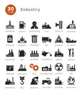 Industrial icons set of on a theme the industry a vector illustration Stock Images