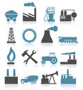 Industrial icons5 Royalty Free Stock Images
