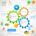 Industrial infographics chart illustration of Royalty Free Stock Photo