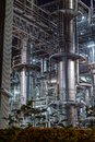 stock image of  Industrial Landscape photographed at night