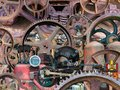 Industrial Mechanical Machine Parts Background Royalty Free Stock Photo