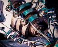 Industrial mechanism metallic part of Stock Image