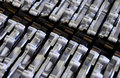 Industrial metal parts pattern Stock Image