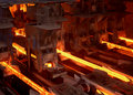Industrial metallurgy Stock Photography