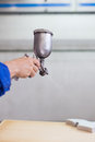 Industrial paint spray gun used in automotive and furniture industry Royalty Free Stock Photography