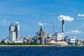Industrial paper mill on a river large located the amelia in fernandina beach florida Stock Photo
