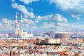 Industrial part of vienna cityscape view from bell tower Stock Images