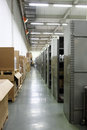 Industrial parts storage factory warehouse Stock Photos