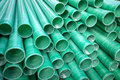 Industrial plastic pipe object photo Royalty Free Stock Photography
