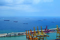 Industrial port of Barcelona Royalty Free Stock Photo