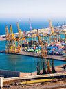 Industrial port de barcelona logistics free Stock Photos