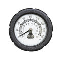 Industrial pressure gauge isolated on white background Stock Photography