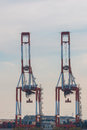 stock image of  Industrial scene background. Landscape of industry at port.
